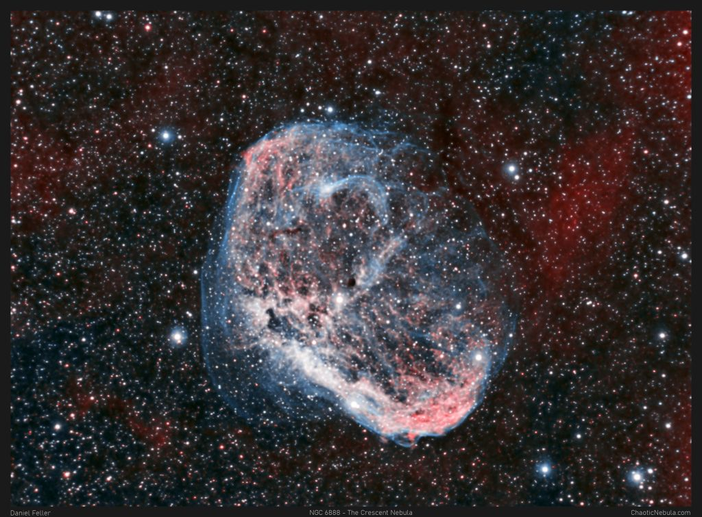 NGC 6888 - The Crescent Nebula in Narrowband